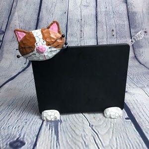 Ganz cat message chalk black board